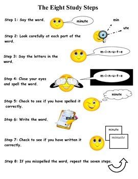 Spelling Study Tips