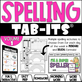 Spelling Tab-Its