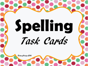Spelling Task Cards FREEBIE