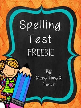 Spelling Test {FREEBIE}