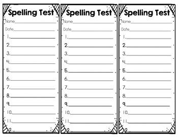 Spelling Test Strips