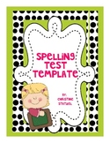 Spelling Test Template/Master