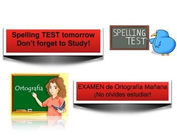 Spelling Test notice