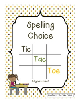 Spelling Tic Tac Toe All Year Round