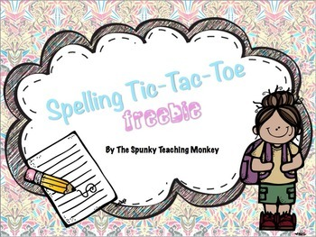 Spelling Tic-Tac-Toe ~FREEBIE~