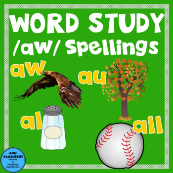 Spelling Unit /aw/ Spellings One week of independent work