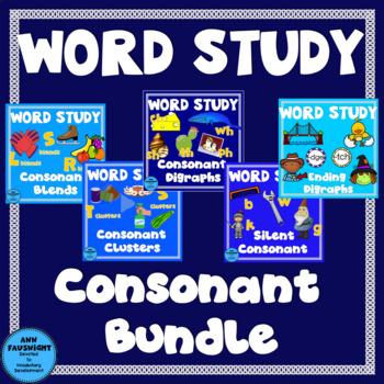 Spelling Units Consonants Bundle (blends, clusters, digrap
