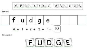 Spelling Values using numbered tiles