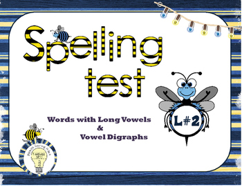 Spelling Vocabulary: Words with Long Vowels and Vowel Digr