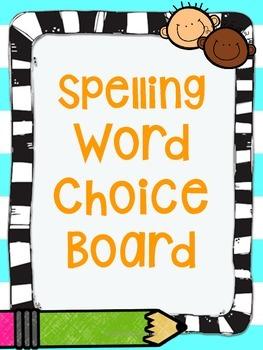 Spelling Word Choice Board