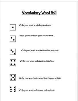 WORD ROLL CENTER ACTIVITIES