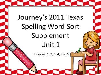 Spelling Word Sort Bundle Unit 1