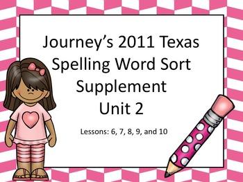 Spelling Word Sort Bundle Unit 2
