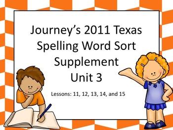 Spelling Word Sort Bundle Unit 3