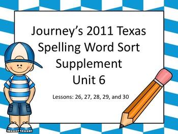 Spelling Word Sort Bundle Unit 6