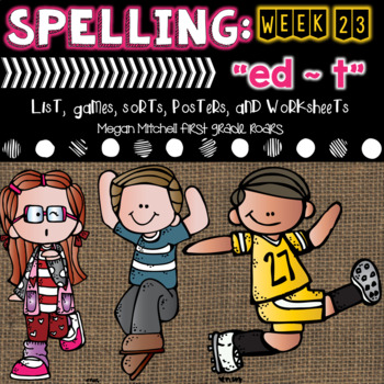 Spelling & Word Work: ed~ t  - Week 22