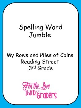 Spelling Words Jumble  Leveled Worksheets  My Rows and Pil