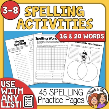 Spelling Printables for Any List!