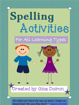 Spelling activities by Planet Doiron