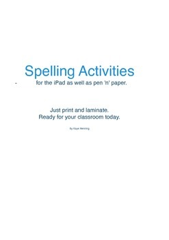 Spelling activities for the iPad