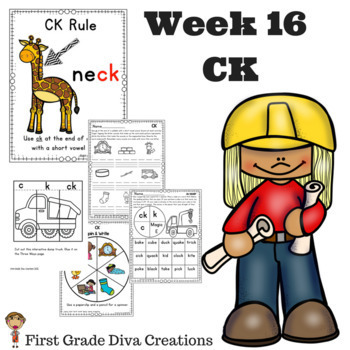Spelling and Phonics Activities for First Grade! Week 16: CK Rule