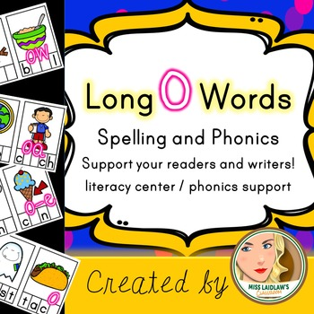 Spelling and Phonics - Long Vowel O - Word Work Center