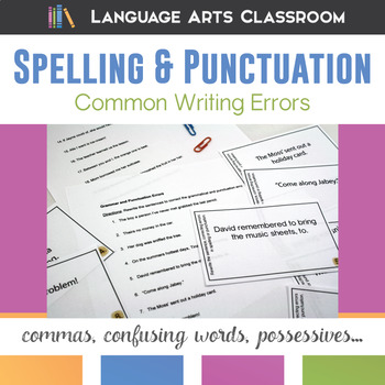 Spelling and Punctuation Errors Task Cards, Part II