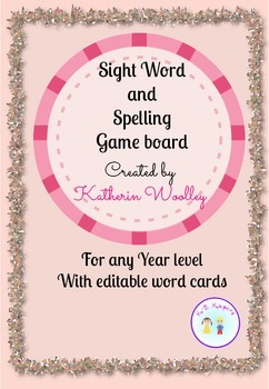 Spelling and Sight word Editable game