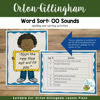 Word Sort With oo Sounds