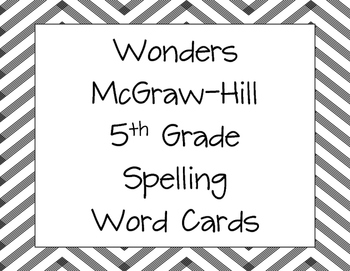 Spelling and Vocabulary Word Cards for Wonders by McGraw-H