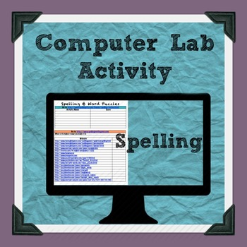 Spelling and Word Puzzles Computer Lab Activity