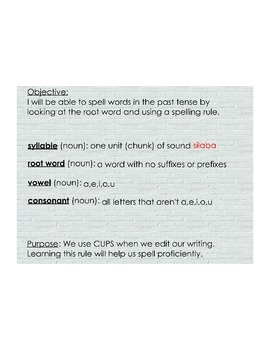 Spelling in the Past Tense
