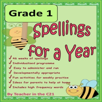 Grade 1 - Spellings for a Year {Spellings and activities f