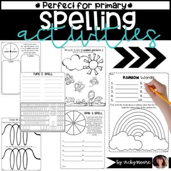 Spelling Worksheets no prep