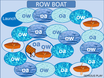 "Spelling ""ow"" and ""oa"" Game Board and Word Sort"