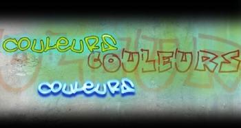 "French spelling  in songs. ""Le rap des couleurs"" (The plur"