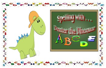 Spelling with Dexter the dinosaur