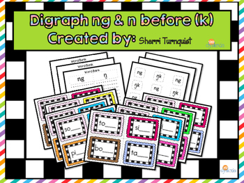 Spelling with Digraph ng & n before k Activity Set