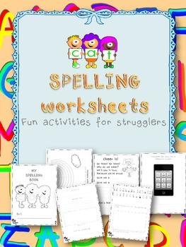 Spelling worksheets {Fun activities for strugglers}