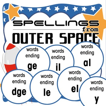 Spellings Year 2: Outer Space Bundle 1: Words ending with