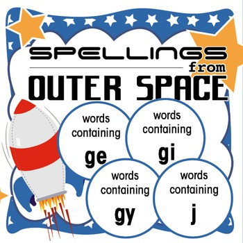 Spellings Year 2: Outer Space Bundle 2: Words containing g
