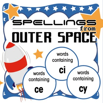 Spellings Year 2: Outer Space Bundle 3: Words containing ce/ci/cy
