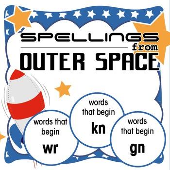 Spellings Year 2: Outer Space Bundle 4: Words that begin w