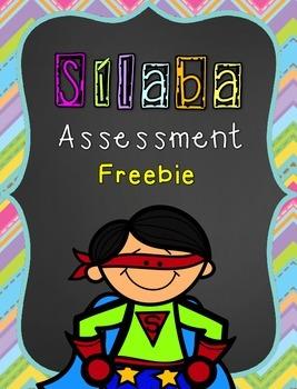 Súper Sílaba Assessment: Freebie