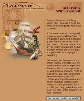 Spice Trader Online Activity