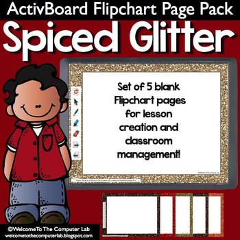 Spiced Glitter ActivBoard Flipchart Page Pack