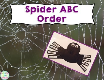 Spider ABC Order {FREE}