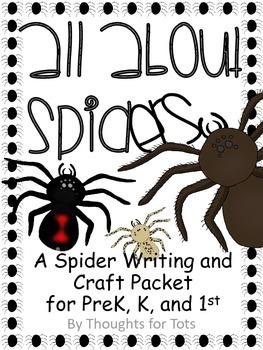 Spider Craft and Writing Practice, Halloween, PreK, Kinder