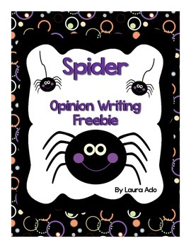 Spider Facts and Opinion Writing Freebie
