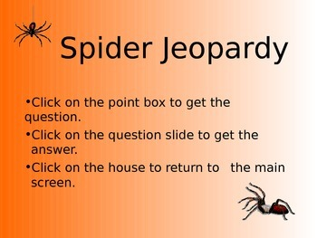 Spider Jeopardy PowerPoint